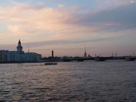 White nights. The Arrow of Vasilevsky island. St. Petersburg photo