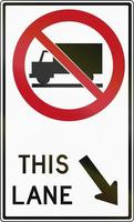 Trucks Forbidden Right Lane In Canada
