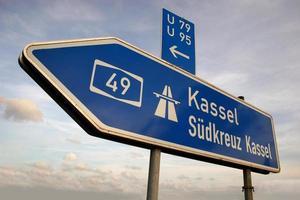 Autobahn-Wegweiser Richtung Kassel
