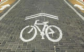 Bicycle lane in downtown