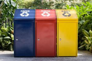 Colorful recycle bin photo