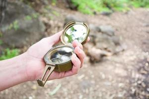 compass in hand photo