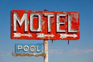 Vintage, neon motel sign pn historic route 66