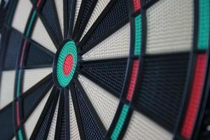 Detail shot of darts game photo