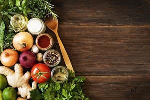 fondo de verduras foto
