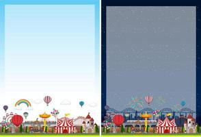 Border template with circus theme background