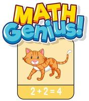 Math flashcard design for adding numbers
