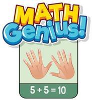 flashcard para el problema de suma matemática