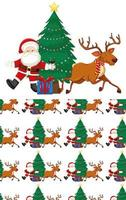 Seamless pattern with Christmas theme vector