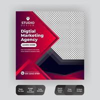 plantilla de publicación de redes sociales de marketing digital abstracto vector