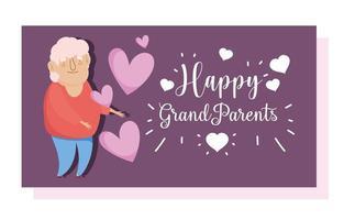 tarjeta de abuelo anciano