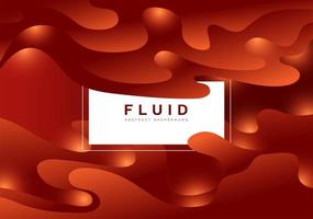 Red gradient fluid abstract background