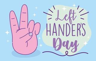 linkshandigen dag posterontwerp