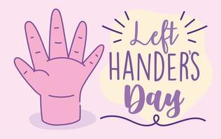 linkshandigen dag poster met roze hand