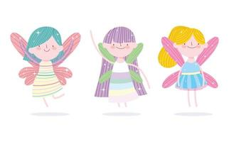 Little fairy princesses with wings