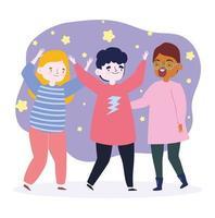 jeugddagviering met y-karakters samen
