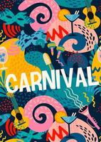 Colorful abstract design for Carnival celebration