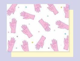 linkshandigen dag ontwerp met handen met vijf vingers
