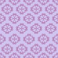 padrão ornamental roxo de estilo único