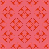 rotes Ziermuster des einzigartigen Stils