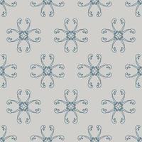 padrão ornamental cinza e azul de estilo único