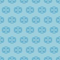 padrão ornamental azul de estilo único