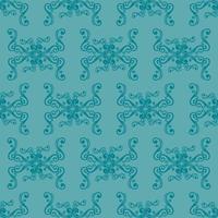 patrón ornamental azul de estilo único