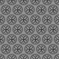 padrão ornamental preto e cinza de estilo único