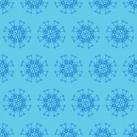 einzigartiges blaues Ziermuster des Stils