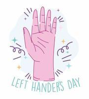 dia dos canhotos, desenho da mão aberta