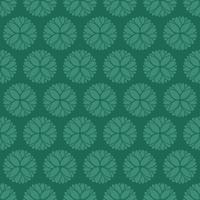 padrão ornamental verde de estilo único
