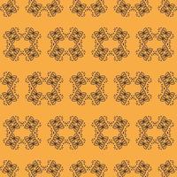 padrão ornamental amarelo e preto de estilo único