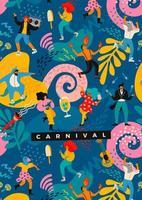 desenho abstrato colorido para celebração de carnaval