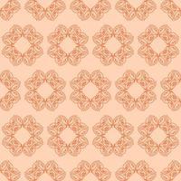 padrão ornamental laranja de estilo único