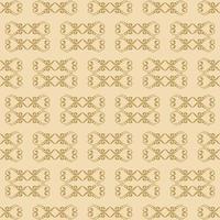 padrão ornamental dourado de estilo único