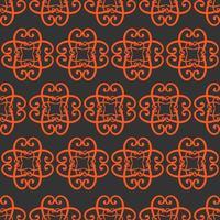 padrão ornamental laranja e cinza de estilo único