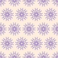 einzigartiger Stil lila und beige Ziermuster