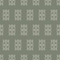 Unique Style Green and White Ornamental Pattern vector