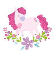 cartoon roze eenhoorn ontwerp