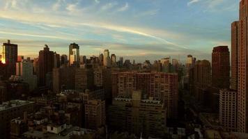 fundo de cenário de marco de paisagem urbana urbana. edifícios do horizonte da cidade de nova york