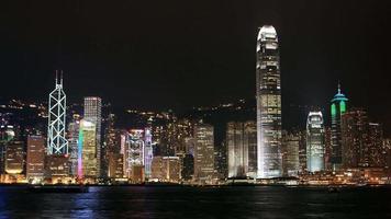 vue de nuit du port de hong kong victoria