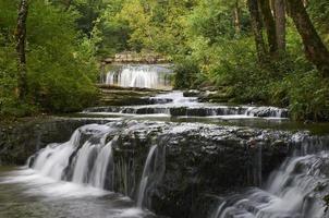 Beautiful waterfall in france