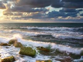 hermoso paisaje marino. foto