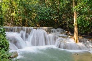 Cascada Huay Mae Kamin en la provincia de Kanchanaburi, Tailandia
