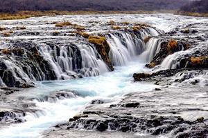 Bruarfoss waterfalls photo