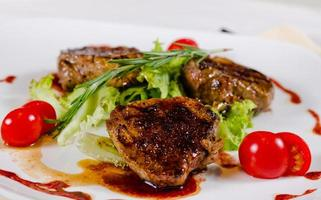 Mouth Watering Grilled Meat Dish with Veggies