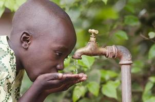 Congo African Boy in need for Clean Fresh Water
