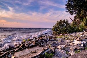 Rocky Coast Of Lake Michigan