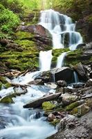 Waterfall in Carpathians photo