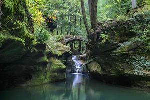 Waterfall And Bridge photo